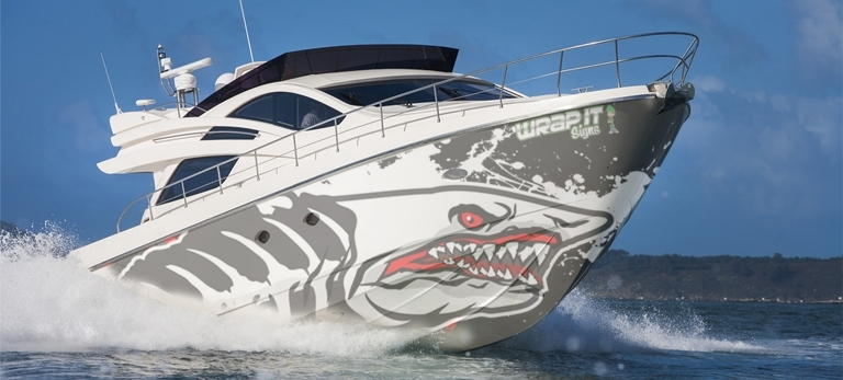 boat graphic wrap